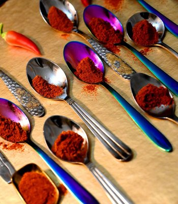 Azafran en cucharas