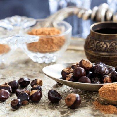 Semillas y polvo de guarana en comida